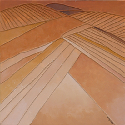 Géométrie d'ocre (60×60 cm) 2012 © M. P.